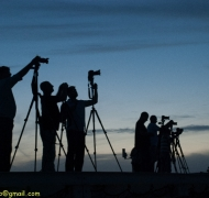 Shooting with fellow photographers on 'the roof of Tel Aviv