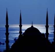 Mosque on Marmara sea