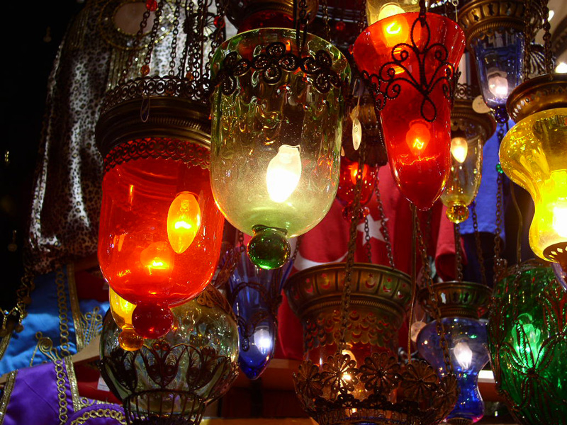 Colorful lamps at Grand Bazaar