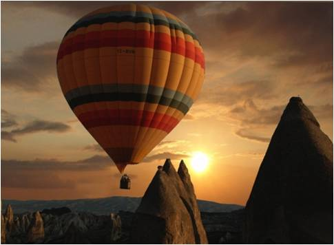 Hot air baloon over Cappadocia